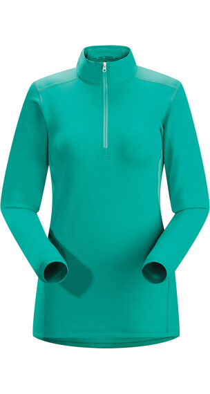 Arc'teryx W's Phase SV Zip Neck LS Patina Teal